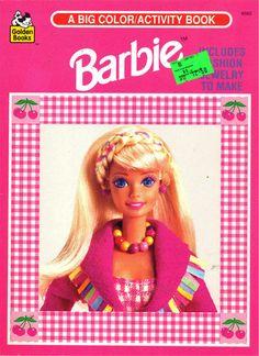 Barbie Coloring Books: RetroReprints - The world's one true coloring book archive! Barbie 90s, Barbie Paper Dolls, Barbie World, Barbie Coloring, Graphic Design Print, Color Activities, Barbie Friends, Indie Kids, Retro Futurism
