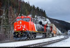 RailPictures.Net Photo: CN 3805 Canadian National Railway GE ES44AC at Jasper, Alberta, Canada by Tim Stevens