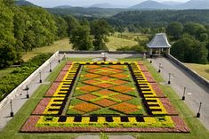 Floral Carpet at Biltmore Estate...the first year it was done.  It was fun to watch this go into place from the inside of the house as I water the interior plants.
