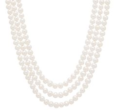 14K Yellow Gold Three-Strand Nested Freshwater Pearl Necklace