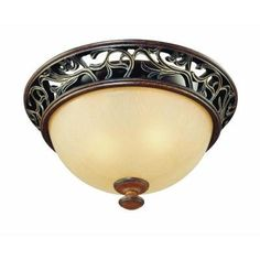 Hampton bay chateau deville 5 light walnut chandelier with champagne enrich your home with rich texture and style by adding this outstanding hampton bay light caffe patina flush mount ceiling fixture aloadofball Image collections
