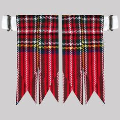 This would be a fun banner for a Scottish themed party or Christmas! Royal Stewart Flash Scottish Kilt Hose/Sock Flashes