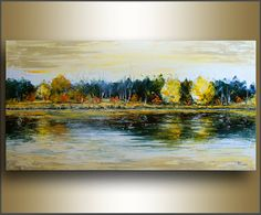 Free Shipping 24x48 art ORIGINAL Landscape by studiomosaic on Etsy