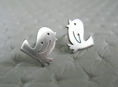 Bird Earrings  Sterling Silver Bird Jewelry
