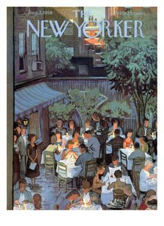 The New Yorker Cover - August 2, 1958 by Arthur Getz. Print from Art.com, $157.00