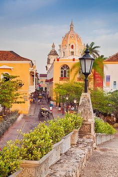 The Old City Of Cartagena, Colombia With The Church Of San Pedro Claver
