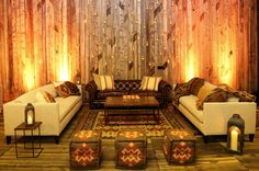 Create lounge spaces -- don't need to be against wall; intersperse throughout to maximize space and minimalize rentals; use pillows/blankets to dress down furniture for rehearsal so can reuse for wedding; use southwestern poufs/pillows Park City Ut, Bridal Luncheon, Welcome To The Party, Maximize Space, Lounge Areas, Rehearsal Dinners, Pretty Pictures, Blue Bird, Pillows