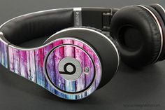 tristynryleigh's save of Blue And Pink Washed Wood Planks Skin for the Beats by Dre on Wanelo