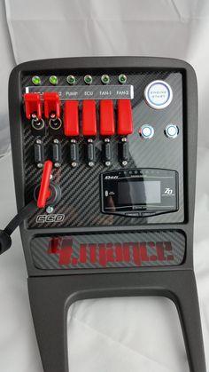 Custom Switch Panel integrated into the standard Mazda NB center console with flush mounted Defi ZD-Meter Custom Subwoofer Box, Rat Rod Girls, Custom Dashboard, Chevelle Ss, Chevy Camaro, Car Ecu, Pontiac Fiero, Custom Car Interior, Toyota