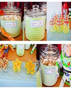 Toy story party ideas - I like the lemonade served in a mason jar!