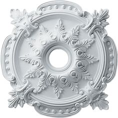 """Ornate Victorian decor for an old Vicky: 28 3/8""""OD x 4 1/2""""ID x 1 5/8""""P Benson Classic Ceiling Medallion - 48"""