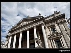 Slanted Brussels Stock Exchange #BelgiumArchitecture #freewallpapers