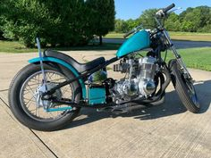 1973 Honda CB750 Bobber Chopper  This bike is one in a million! With its head turning Tragic Turquoise 70's heavy metal flake paint. This bike doesn't just look good it runs good too.  Turns heads anywhere you go.  Starts right up from a push of a button. Idles smooth with great reaction. […] #caferacerforsale #caferacer