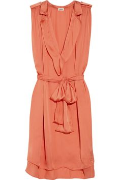 Love the shape and wispiness. L'Agence Belted satin dress NET-A-PORTER.COM