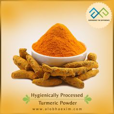 Turmeric gives an exciting color to cuisines which make them tempting and presentable. Get hygienically processed #TurmericPowder with the finest quality at #AlobhaExim. http://alobhaexim.com/turmeric/