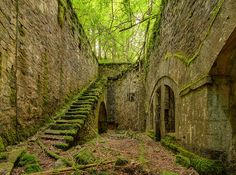Ruins of an old, abandoned fort in France.