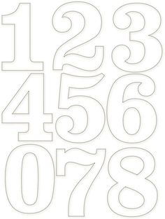 Tethered 2 Home Number Templates, Alphabet Templates, Number Stencils, Free Stencils, Letter Stencils, Printable Numbers, Graffiti Lettering, Scroll Saw Patterns, Alphabet And Numbers