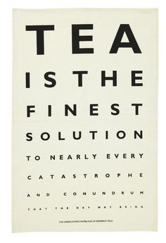 Tea Eye Test Linen Tea Towel