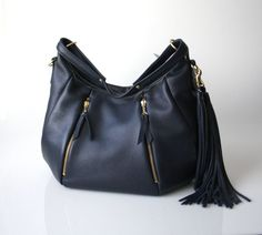 Blue Leather Purse  OPELLE Ballet Bag  Large by opellecreative, $272.00