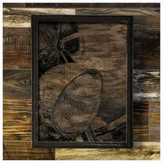 """A beautiful image that lets a lot of wood show through. This piece has a softer, almost vintage feel. Perfect for the antique bike collector.    Made-To-Order      Made from oak that has each been sanded smooth and painted, the image is created by ripping away the pigment, leaving the beautiful texture of the wood undisturbed.    The frame is welded 1-1/4"""" steel angle, with a light grinding, for a very industrial feel.    As each piece of wood I use has it's own grain pattern, yours will…"""