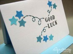 Raimi's Orders! | Diyadeary Good Luck Wishes, Good Luck Cards, Easy Fabric Flowers, Greeting Cards Handmade, Handmade Greetings, New Job Card, Leaving Cards, Make Your Own Card, Star Cards