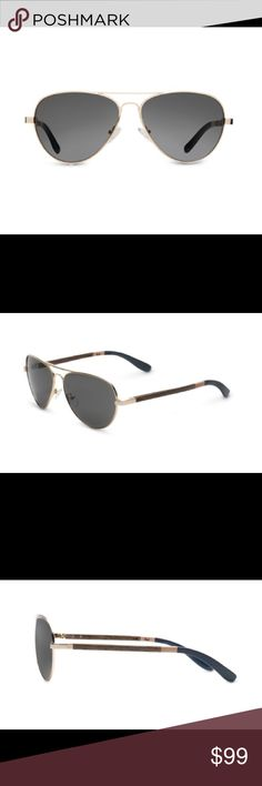 Toms Maverick Gold And Dusty Rose Sunglasses A forged alloy metal frame front establishes a keen contrast to the distinguished walnut wood temples - a perfect blend of traditional panache and progressive design. For added comfort, air pockets line the silicone nose pads for all-day wear.  Maverick Gold and Dusty Rose, S003-021-01 Smoke Grey (886468011716) •100% UVA/UVB protection •Handmade acetate frame for rich feel and coloration •5-barrel rivet hinges for sturdiness •Contoured temple tips…