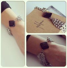 Ephtenia Sida Bracelet with black onyx stone - SS14 Collection www.ephtenia.com instagram @Ephtenia Design Design
