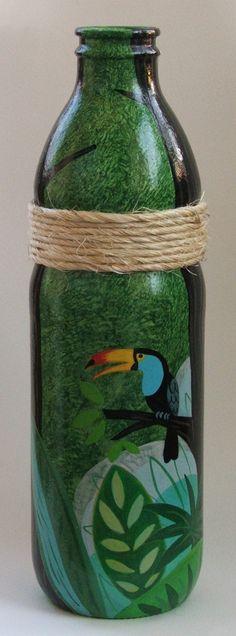 Botella pintada - Adornos - Casa - 613560