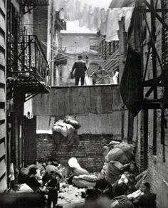 Baxter Street Alley in New York City 1888 - photograph by Jacob Riis [1280x1586]