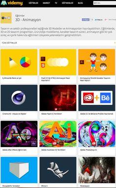 Tasarım ve sektör profesyonelleri eşliğinde 3D Modeller ve Animasyonla hazırlayabilirsin. Eğitimlerde, 3D ve 2D tasarım programları, ürün/obje modelleme, karakter tasarım süreci, animasyon gibi bir çok süreç ve içerik hakkında eğitimleri izleyerek yeteneklerini geliştirebilirisin. http://videmy.com/Egitimler/C/23/3D__Animasyon_Egitimi