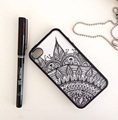 Plain white phone case + sharpie