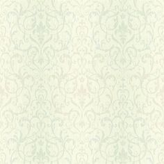 Beauvais Blue Scrolling Damask