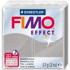Fimo Soft Effect - 56gm - Silver Pearl [8020-817] Fimo Soft is a softer formula with firm smooth texture, easy to knead.  - Bakes in home oven at 130 or 110 degrees C for 30 minutes (check package for temperature and if you are combining clays with different baking temperatures in a single project always bake at the 110 degree temperature to prevent cracking) - Also great for millefiori, jewellery, and sculpting. - Durable after baking.  Regular Price:  $5.95 - Sale Price now - $3.85