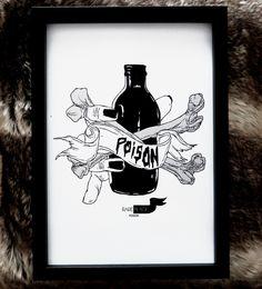 poison ink skettch X print