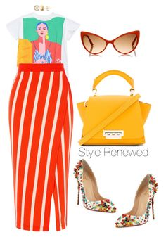 """Color Block"" by sherristylz ❤ liked on Polyvore featuring ZAC Zac Posen, Karen Millen, Christian Louboutin and Tom Ford"