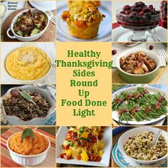 Healthy Thanksgiving Sides Recipe Round Up www.fooddonelight.com