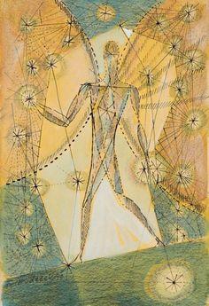 František Hudeček – Night walker, 1943 Night Walkers, Drawing Sketches, Drawings, Vintage World Maps, My Arts, Mirror, Prints, Inspiration, Image