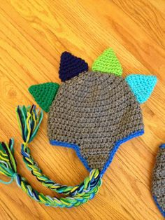 Dinosaur Crochet Hat Photography Prop  Made to Order Newborn Baby. $18.00, via Etsy.