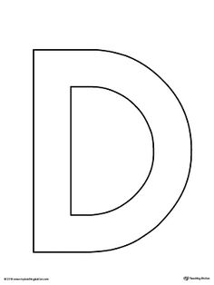 Uppercase Letter D Template Printable Worksheet.The Uppercase Letter D Template is an ultra useful, all-purpose letter template designed for use in a variety of crafts and activities to complement your alphabet studies. Printable Alphabet Letters, Alphabet Templates, Uppercase And Lowercase Letters, Letter D Worksheet, Printable Worksheets, Free Printable, Alphabet Worksheets, Printable Cards, Letter D Crafts