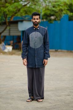javed khan fashion week - His own shirt and a lungi