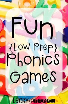 Fun {Low Prep} Phonics Games to help your students master the important letter, vowel, blends & digraphs sounds!
