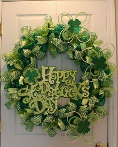 St. Patrick's Day is a festive and fun Irish tradition that has become a classic American holiday over the years. The green color hues provide a creative opportunity to craft festive wreaths for the celebration. This mesh ribbon wreath tutorial is really all about happiness! It was just as fun to make as it is to look at. The chevron and Polk-a-dot ribbon add to the whimsical lettering on the sign. Follow along to craft this mesh wreath all by yourself!Giveaway Contest Rules!You ...