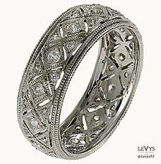 WB-278 #InfinityLine #vintagestyle #weddingring #stackable