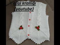 Crochet Baby Clothes, Crochet Hats, Baby Knitting Patterns, Models, Vest Jacket, White Shorts, Youtube, Jackets, Beautiful