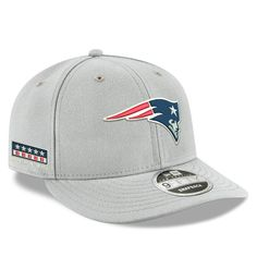5e0160aeb72 Men s New England Patriots Nike Gray Crafted in the USA Low Profile 9FIFTY  Adjustable Snapback Hat