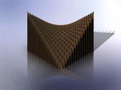 3D Modeled Sliceform