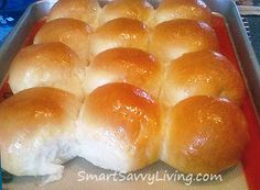 "Homemade Yeast Rolls or Bread Recipe This link may say it will take you to a bad website but it's totally legit, it's a woman's blog about ""smart savvy living"""