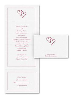 Hearts Seal 'n Send Wedding Invitation
