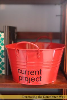 Great idea for craft room. Labeled containers or in progress projects