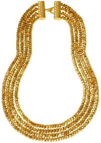 The Met Store - Indian Golden-Bead Multi-Strand Necklace